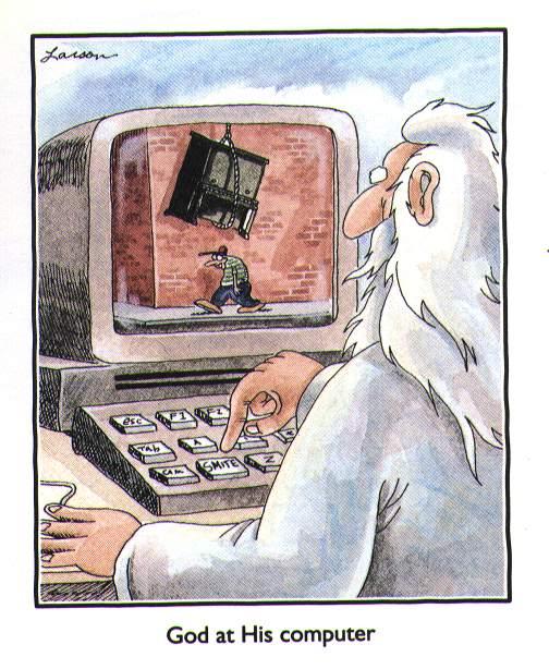 Dievas prie kompiuterio